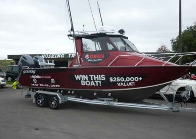 Hosking Trailer for Surtees 750 Boat Show Prize